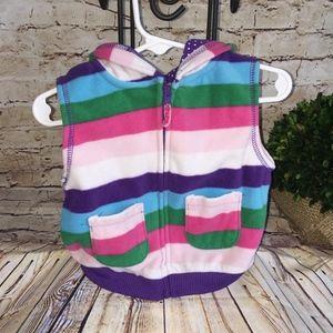 Carter's Baby Girl HOODIE Vest Jacket